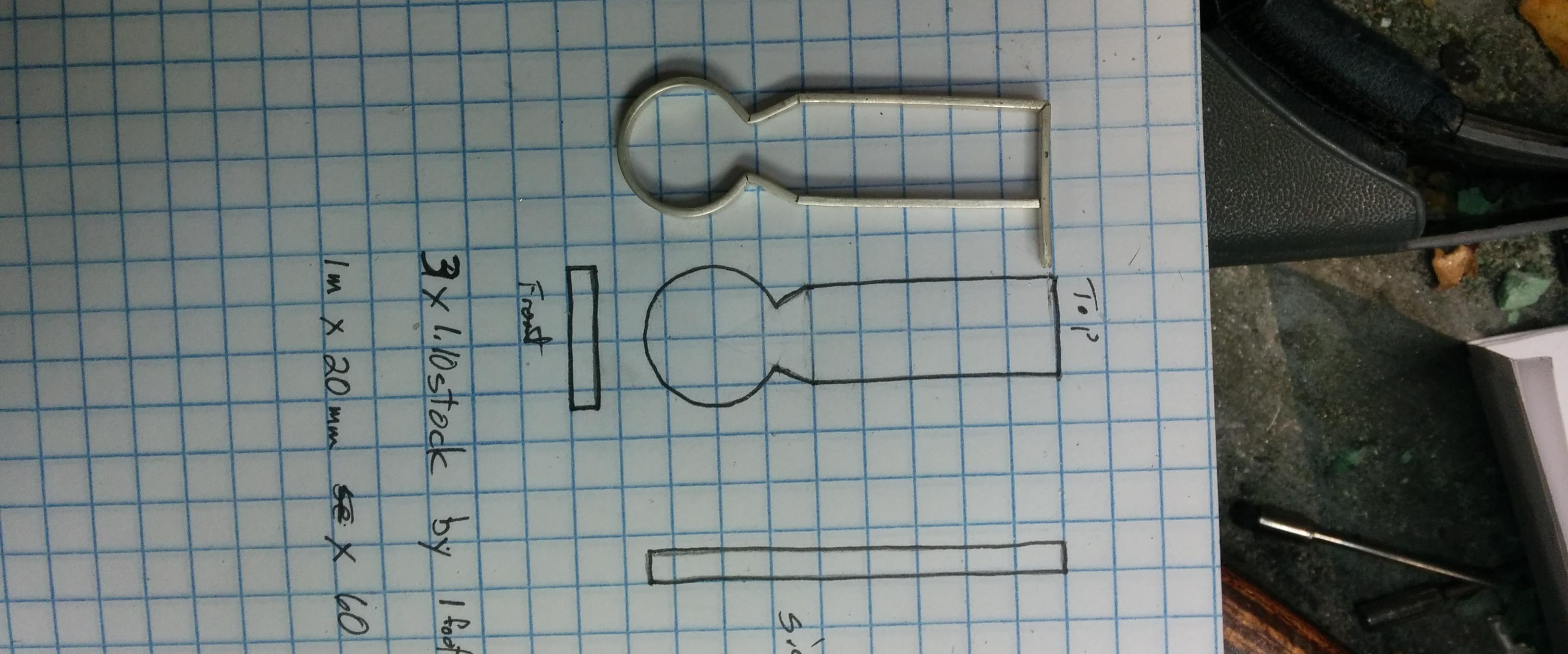 pendent frame for three hinge pendent